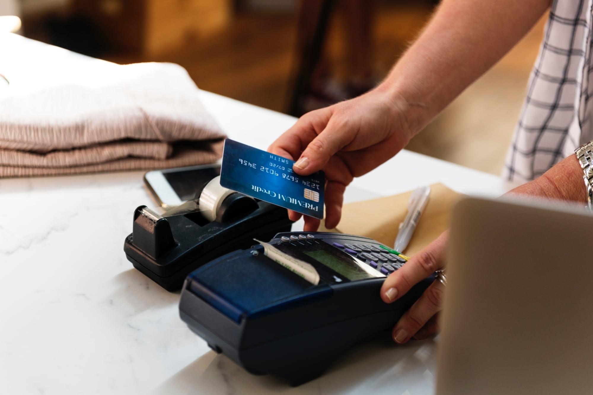 Kortterminal för bankkort