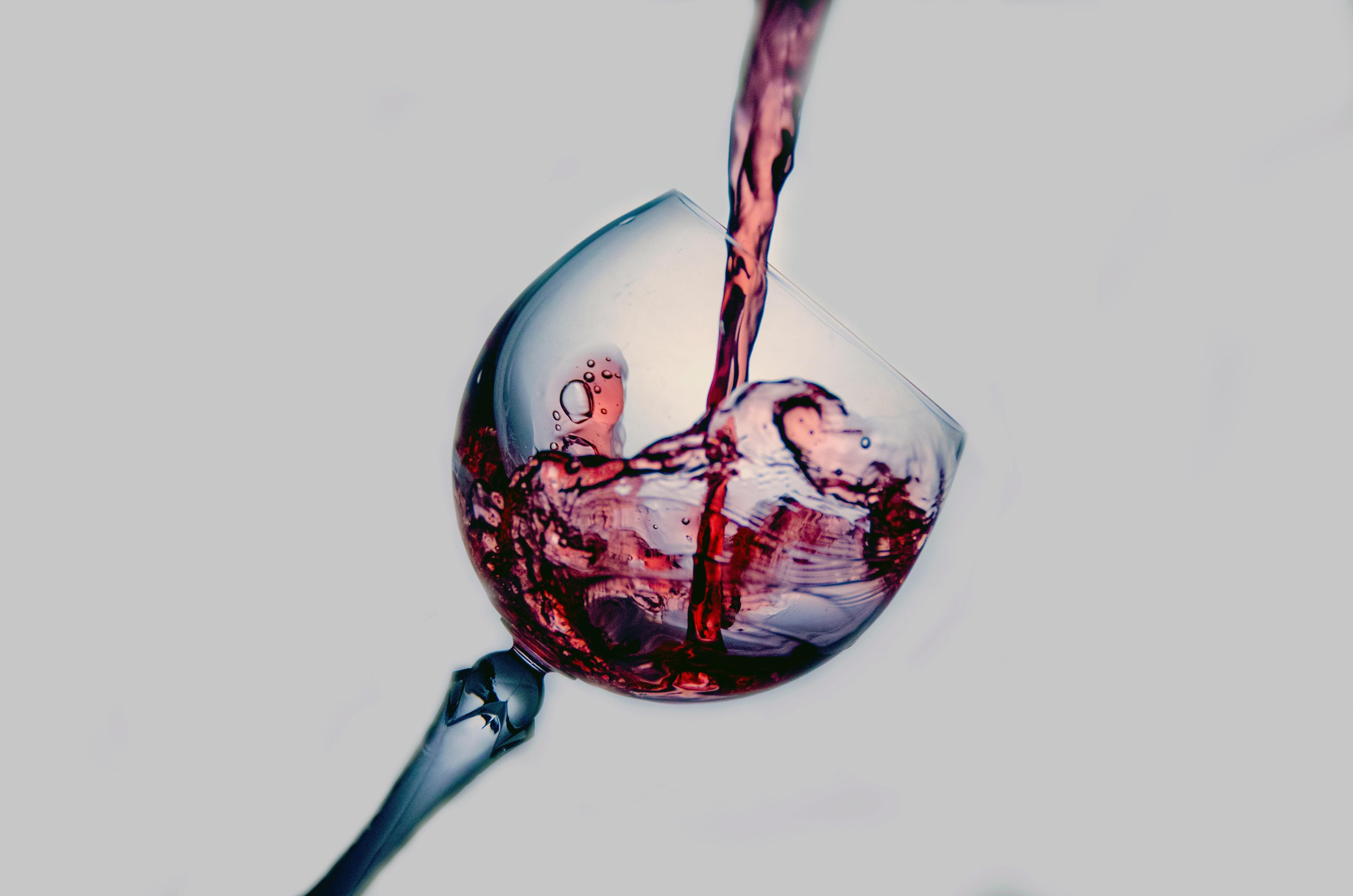 Rödvin i ett glas
