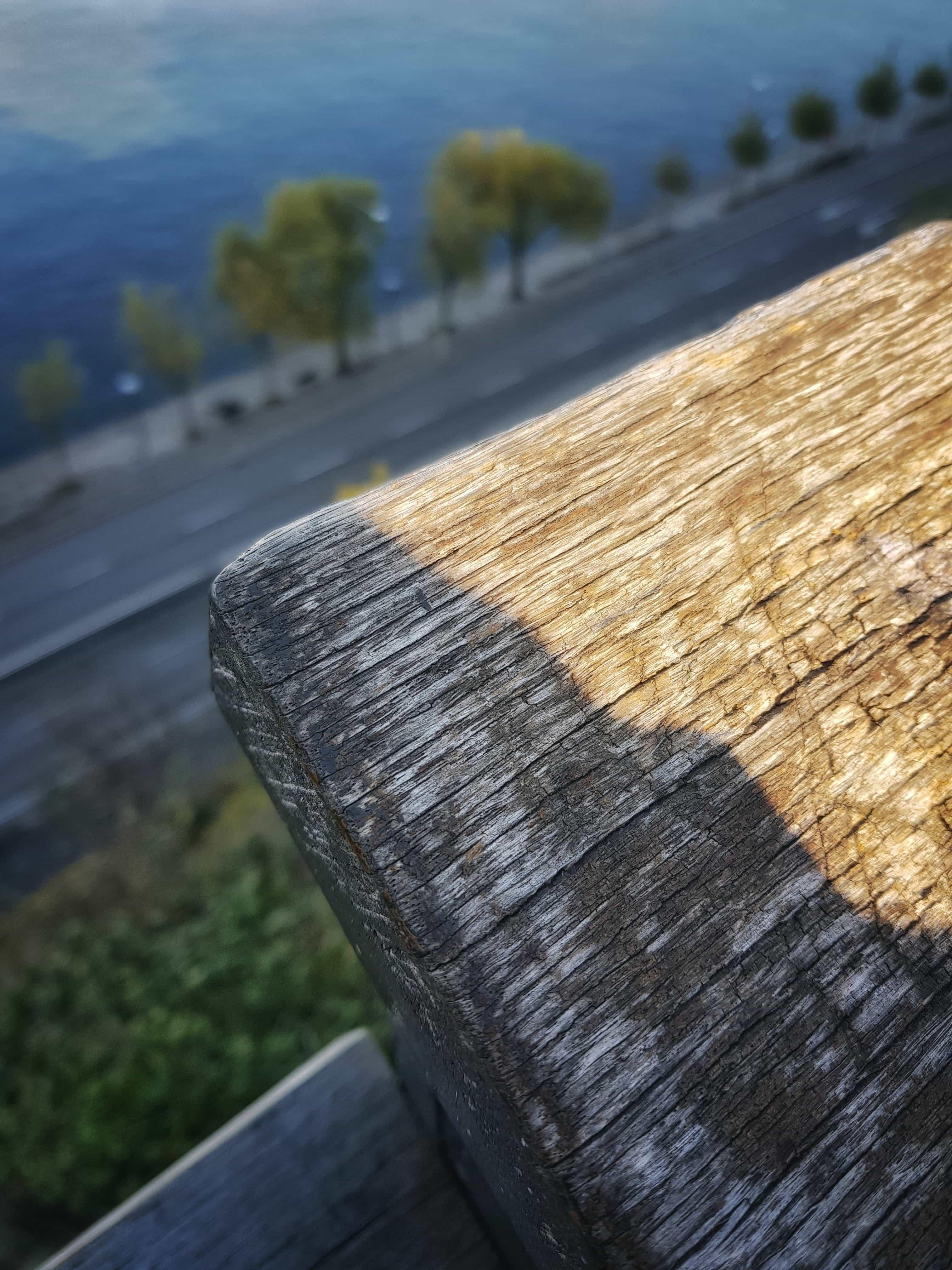 Detaljstudie av ett staket