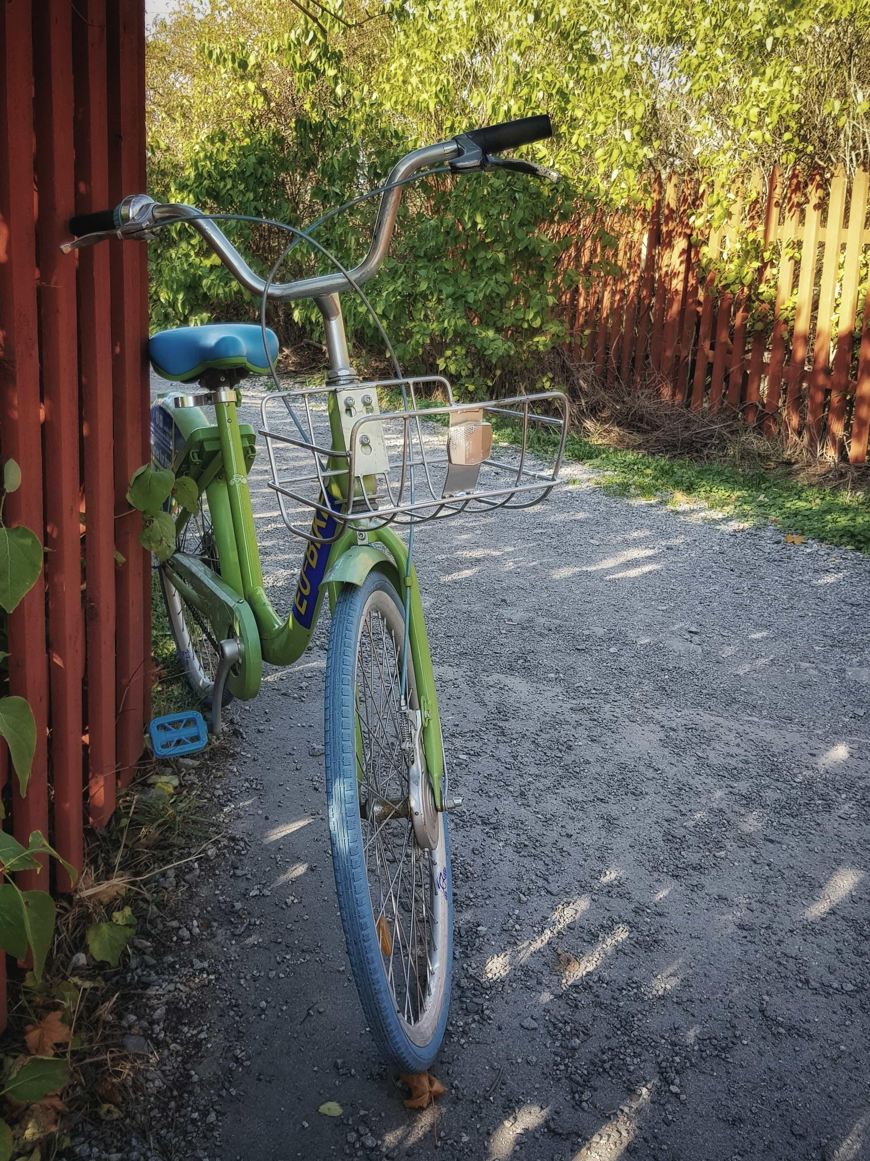 En cykel vid Skinnarviksberget