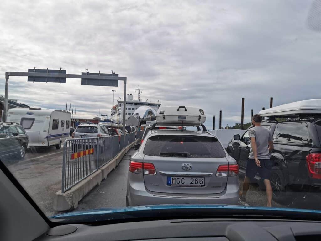 Bilkö inför ombordkörningen på M/S Eckerö på väg till Åland.